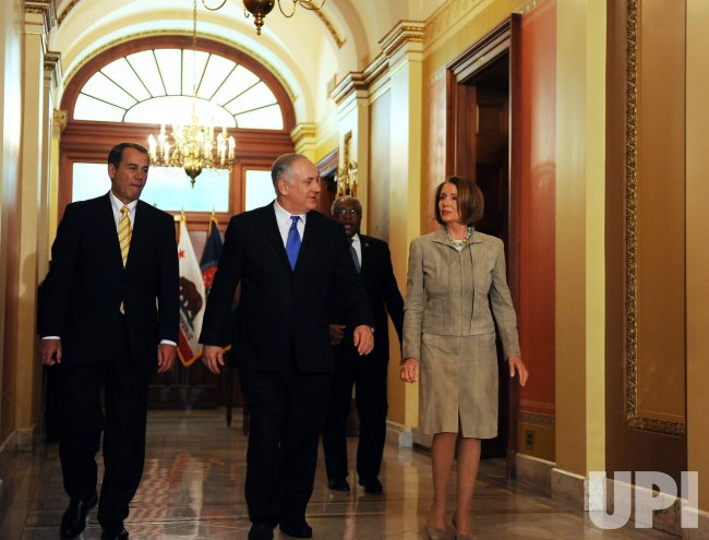 Pelosi, Boehner meet with Israeli PM Netanyahu in Washington