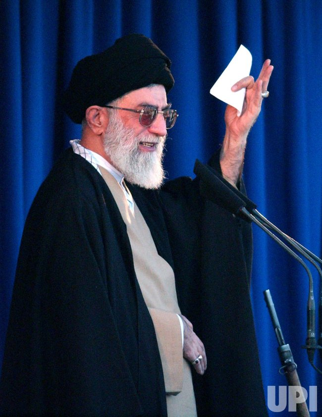 IRAN'S KHAMENEI DELIVERS SERMON IN TEHRAN