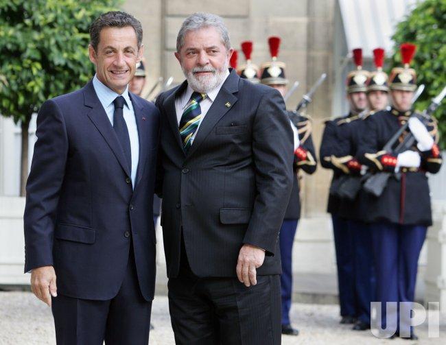 Brailian President meets Sarkozy in Paris