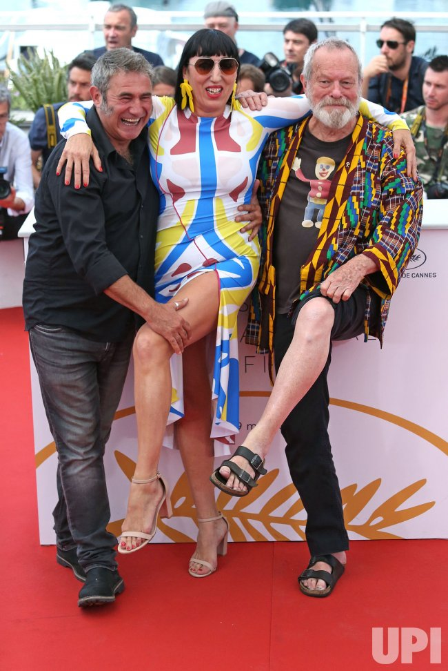 Terry Gilliam, Rossy de Palma and Sergi Lopez attend the Cannes Film Festival