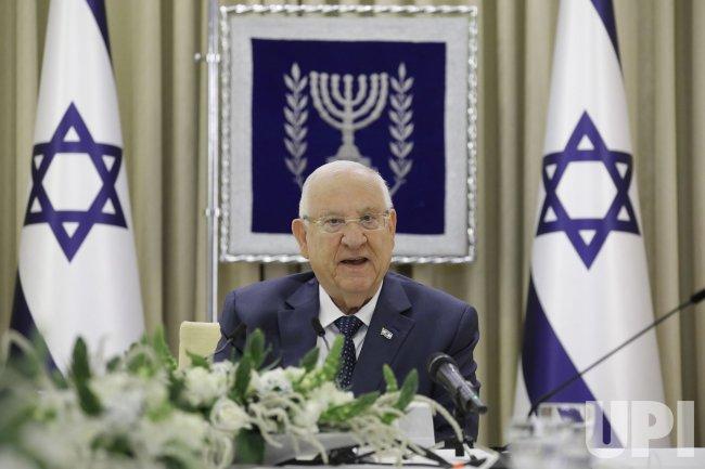 Israeli President Reuven Rivlin Speaks Regarding the Next Coalition Government