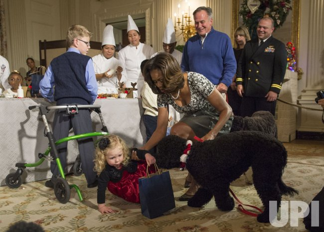First Lady Michelle Obama host Military Children for a Holiday Event at the White House
