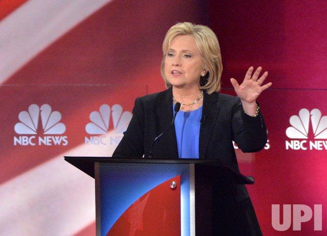 Democratic Presidential Candidates Clinton participates in the Charleston debate