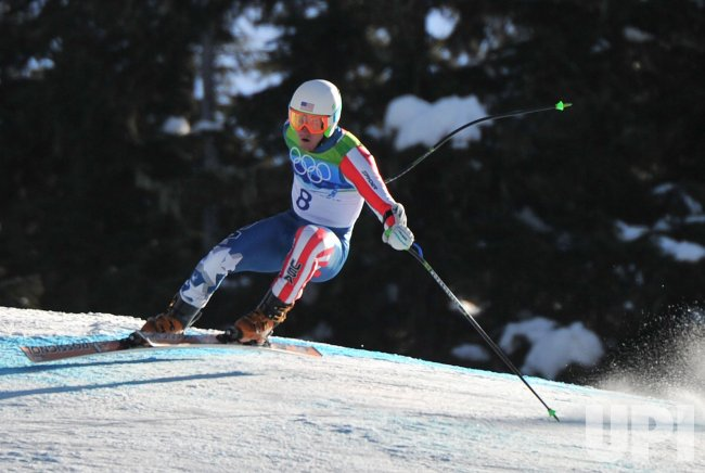 USA's Ted Ligety competes in the Men's Super G in Whistler