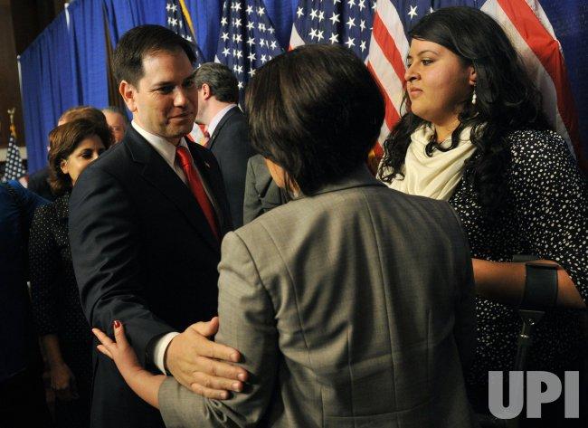 Senators hold a Press Conference on Immigration Reform in Washington