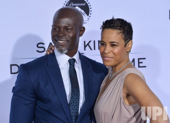 "Djimon Hounsou and Daphne Wayans attend the ""Same Kind of Different as Me"" premiere in Los Angeles"