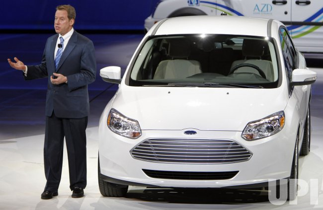 Bill Ford Jr. introduces Ford Focus Electric at the 2011 NAIAS in Detroit, MI.