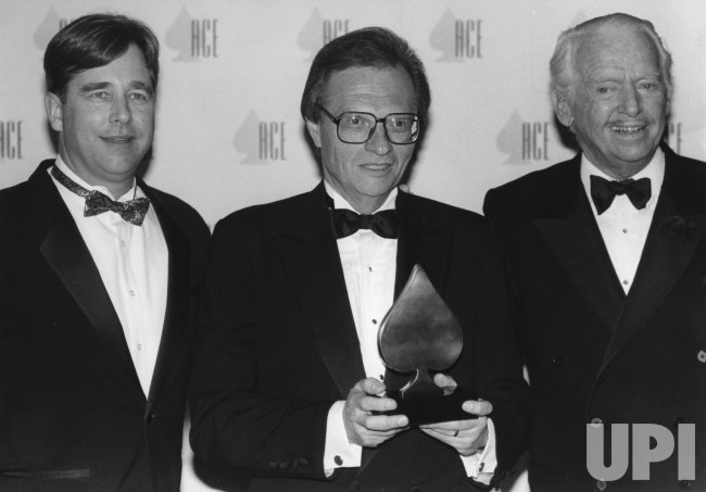 Talk show veteran Larry King receives an ACE award