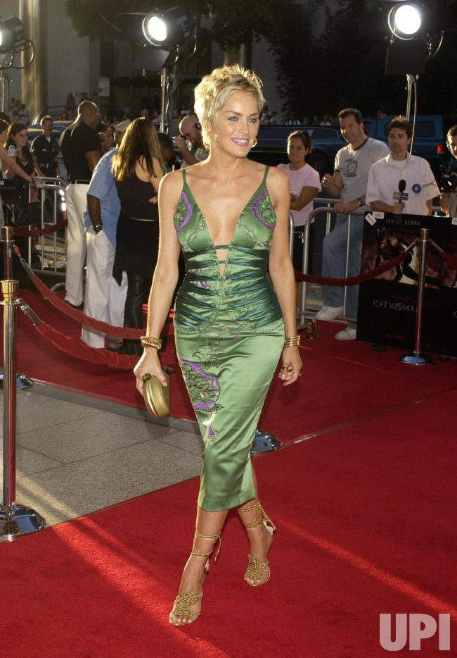 Catwoman Cast Member Sharon Stone Arrives For Premiere Of The Film