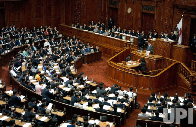 Aso delivers first policy speech in Tokyo
