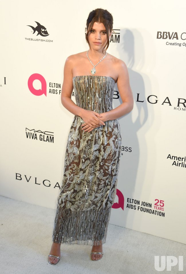 Sofia Richie attends the Elton John Aids Foundation Oscar viewing party in Los Angeles
