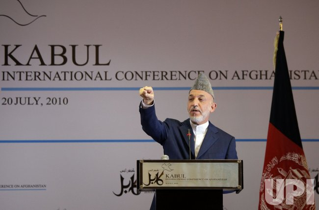 Afghan President Karzai in Kabul