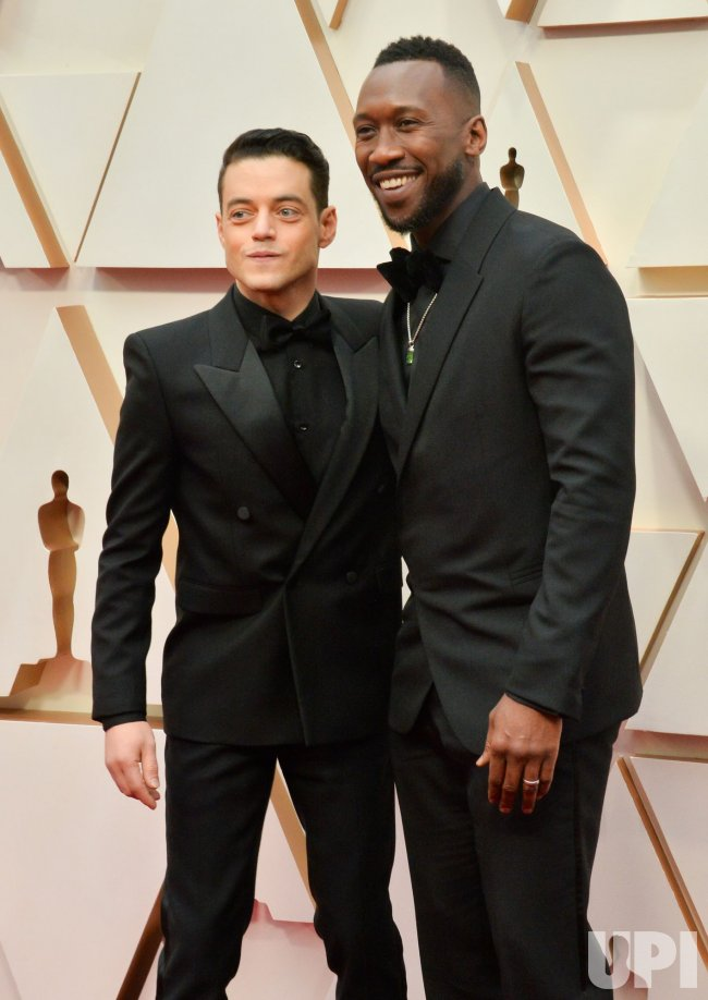 Rami Malek and Mahershala Ali arrive for the 92nd annual Academy Awards in Los Angeles