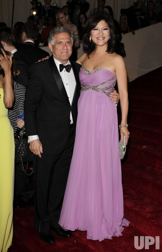Julie Chen and Les Moonves arrive at the Costume Institute Gala Benefit in New York