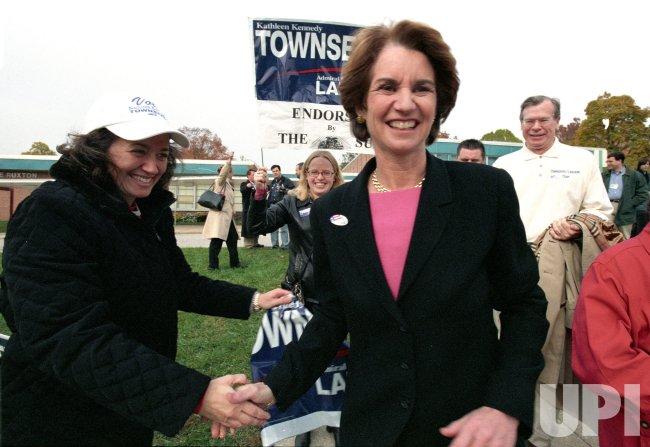 Lt. Gov. Kathleen Kennedy Townsend heads to the polls