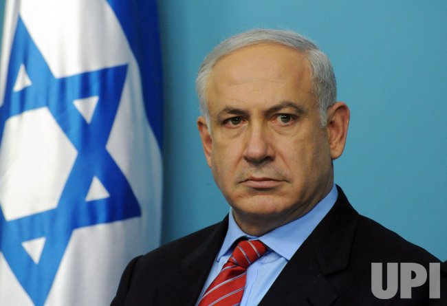 Israeli Prime Minister Benjamin Netanyahu holds a press conference in Jerusalem