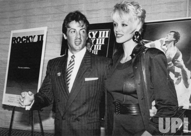 Actor Sylvester Stallone and his wife Brigitte announce 10-picture deal struck with United Artist Corporation