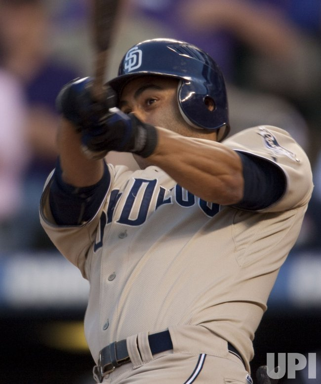 Leadoff Padres Hitter Hairston, Jr. Bats in Denver