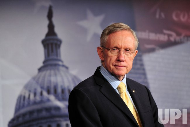 Sen. Harry Reid speaks on the ongoing budget negotiations in Washington
