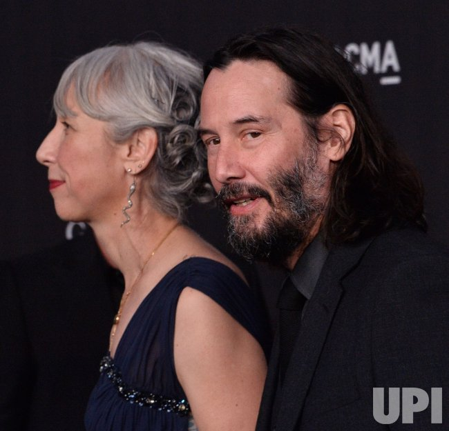 Keanu Reeves and Alexandra Grant attend LACMA Art+Film ...