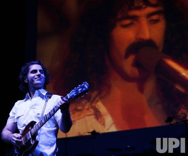 Dweezil Zappa performs in concert in Paris