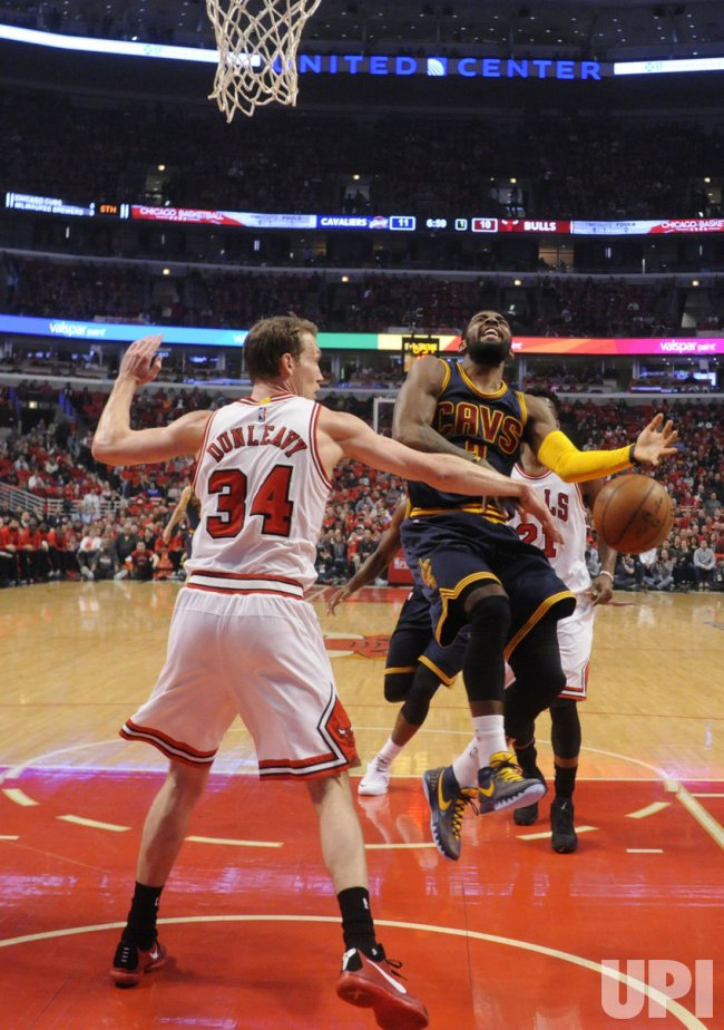 The Cleveland Cavaliers Play the Chicago Bulls in Game 4 of the Eastern Conference Semifinals of the NBA Playoffs in Chicago