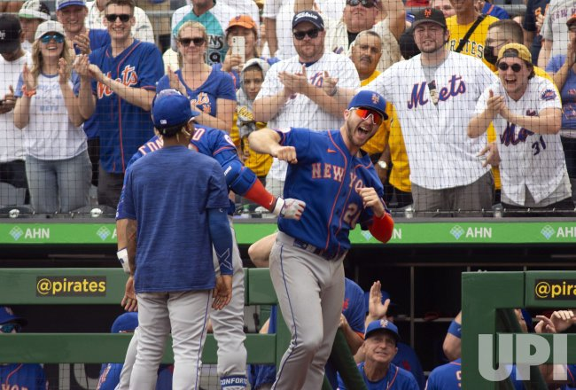 New York Mets Celebrates Michael Conforto Homers in Pittsburgh