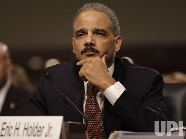 Attorney General Eric Holder testifies before the Senate Judiciary Committee in Washington