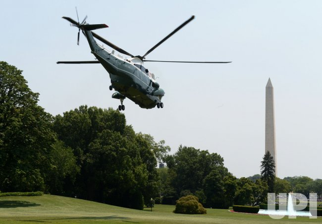Barack Obama Leaves to Walter Reed Medical Center