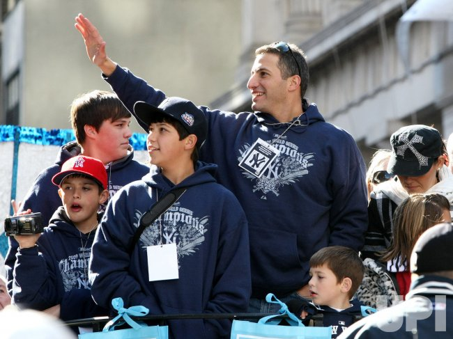 Pettitte is honored in Tickertape parade held in honor of New York Yankees' World Series win in New York