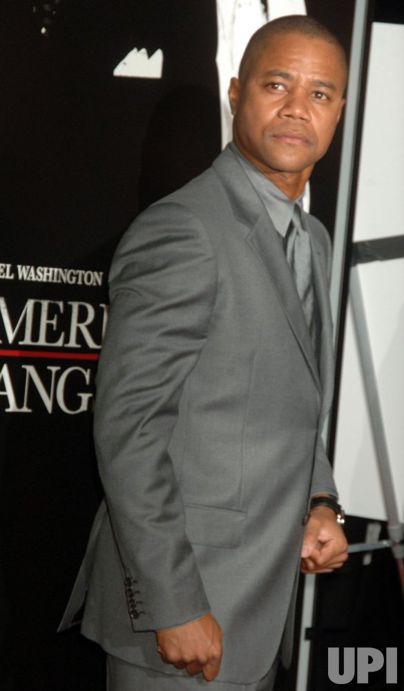 "Denzel Washington film premiere: ""American Gangster"" in New York"