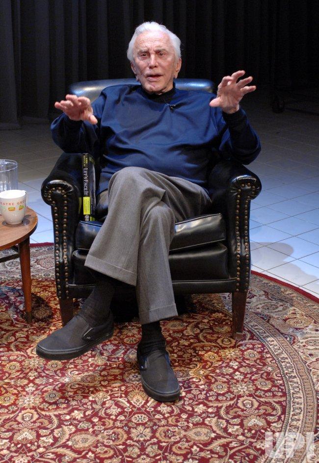 KIRK DOUGLAS DISCUSSES HIS MEMOIR IN CULVER CITY, CALIFORNIA