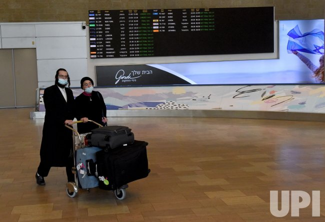 An Ultra-Orthodox Couple Arrives In Ben Gurion Airport