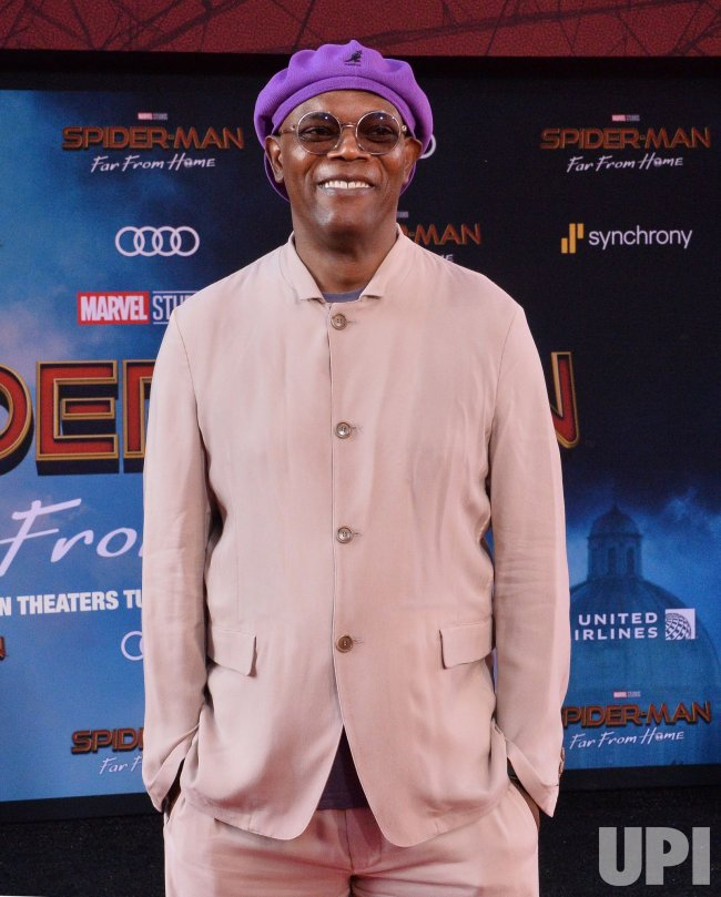 """Samuel L. Jackson attends the """"Spider-Man: Far From Home"""" premiere in Los Angeles"""