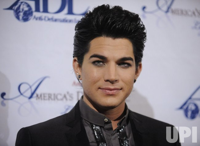 Former American Idol contestant Adam Lambert attends the Anti-Defamation League's Los Angeles Dinner in Beverly Hills, California