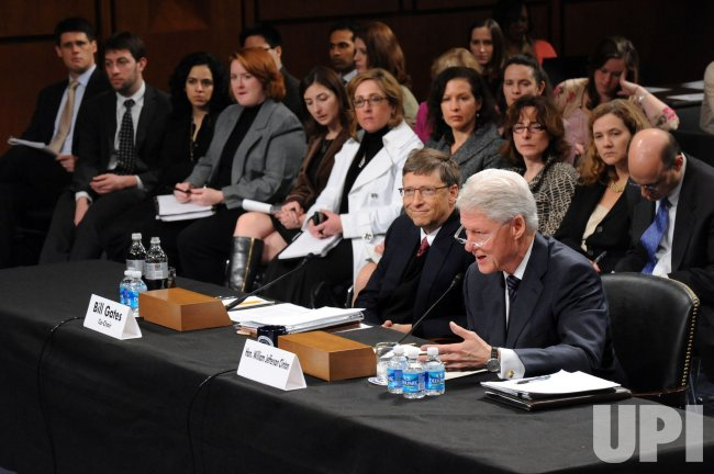 Bill Clinton and Bill Gates testify on Capitol Hill in Washington