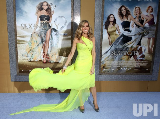 "Sarah Jessica Parker arrives at the ""Sex And The City 2"" premiere at Radio City Music Hall in New York"