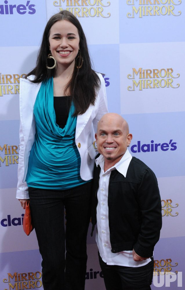 """Martin Klebba and wife Michelle attend the """"Mirror Mirror ..."""