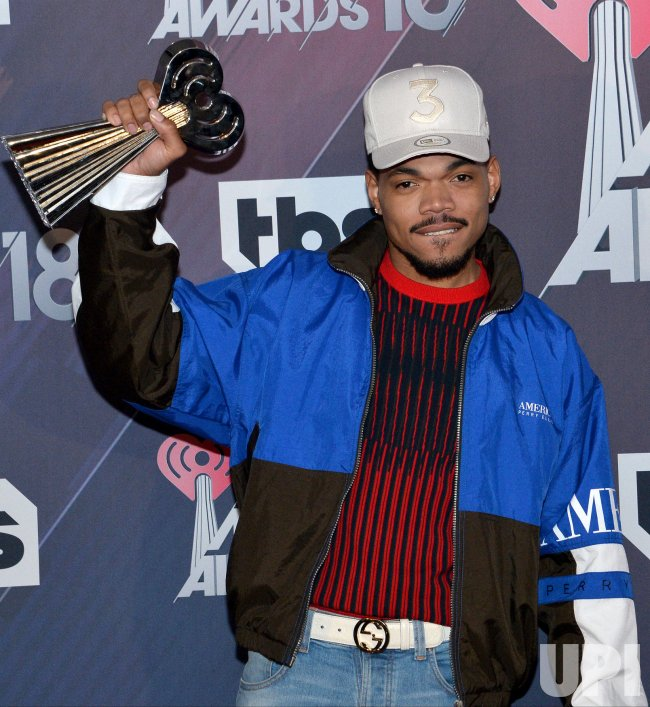 Chance the Rapper wins the Innovator Award at the iHeartRadio Music Awards in Inglewood, California