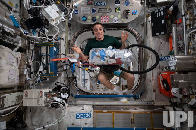 Astronaut Chris Cassidy Does Housekeeping in Space
