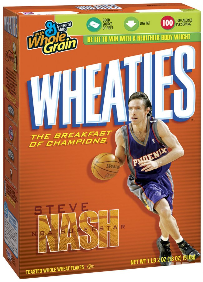 WHEATIES HONORS 2005 NBA MVP STEVE NASH