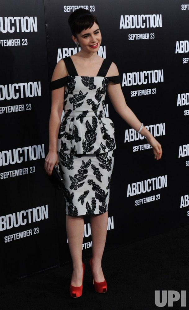 """Lily Collins attends the """"Abduction"""" premiere in Los Angeles"""