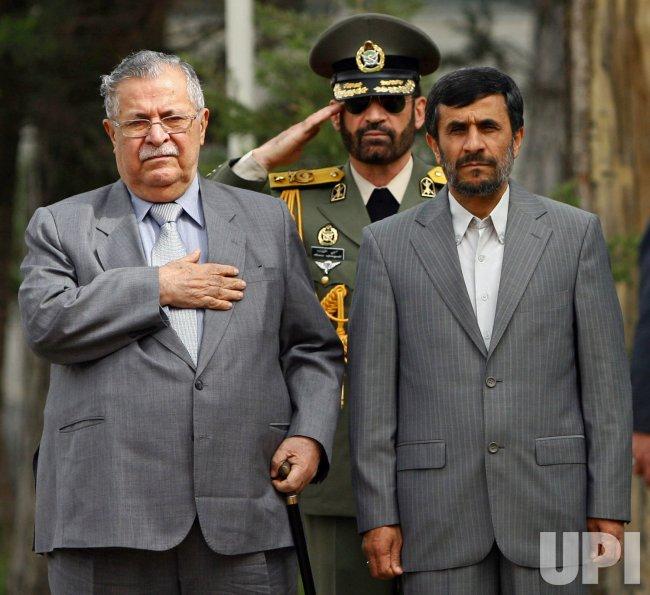 Iraq's President Jalal Talabani visits Iran