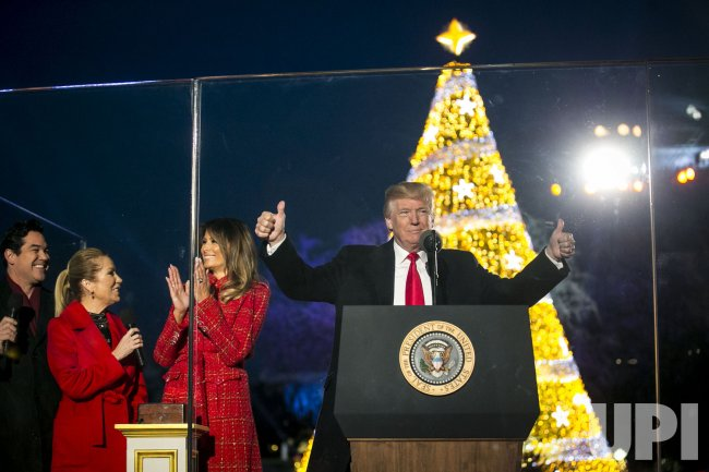President Trumpls Lights the National Christmas Tree in Washington, DC