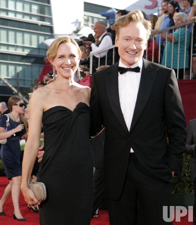 Conan O'Brien arrives at the 61st Primetime Emmy Awards in Los Angeles