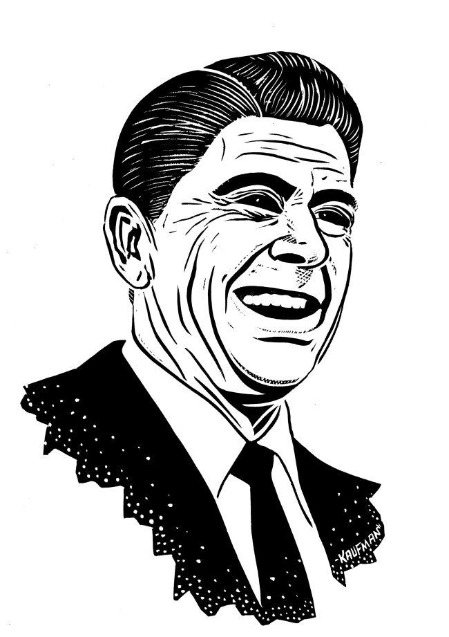 ronald reagan caricature upicom