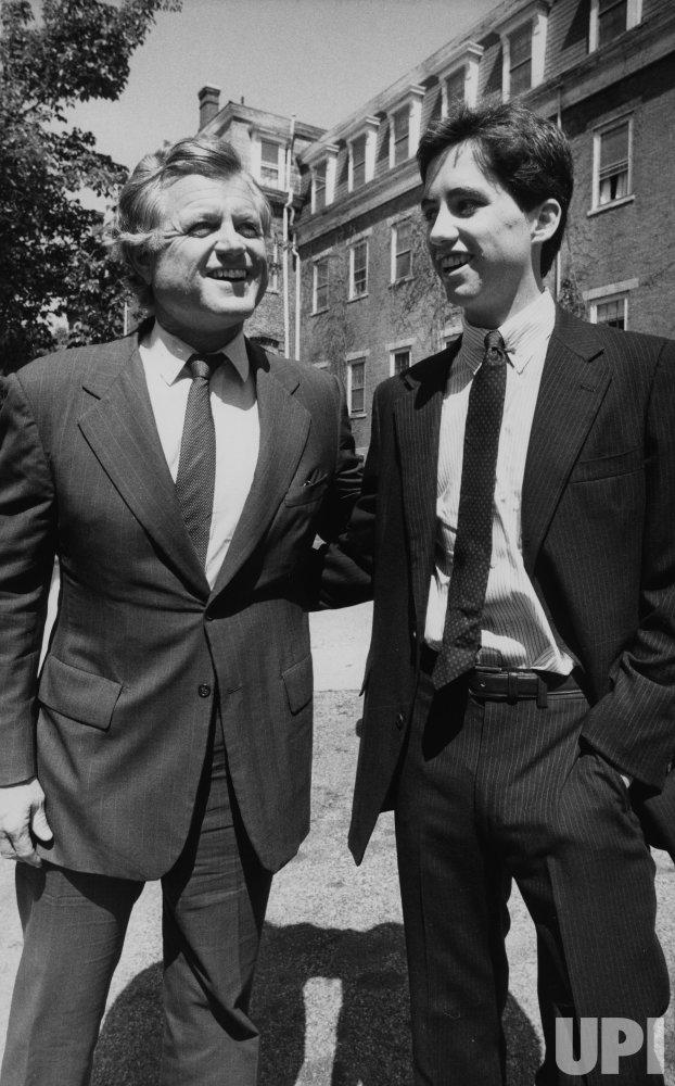 "Uncle Sen. Edward M. Kennedy attends graduation of his newphew Matthew ""Max"" Kennedy"