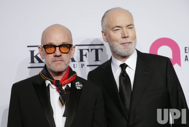 Michael Stipe at the Elton John AIDS Foundation Benefit