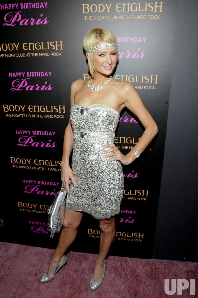 Paris Hilton celebrates her birthday at Body English in Las Vegas