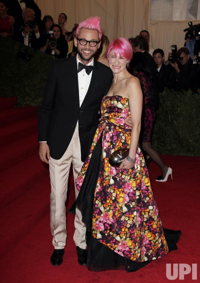 Chris Benz and Julie Macklowe at the Costume Institute Gala Benefit in New York